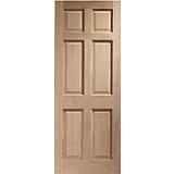 XL External Door Hardwood Colonial 6 Panel Dowelled