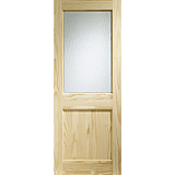 XL External Door Pine 2XG with Flemish Glass