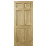 Internal Door Oak Regency 6 Panel with non raised moulding Unfinished