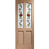 XL External Door Hardwood Richmond Keats Glass M&T