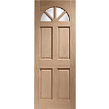 XL External Door Hardwood Carolina Unglazed M&T