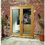 External French Door 5ft Oak La Porte Doorset Pre Finished