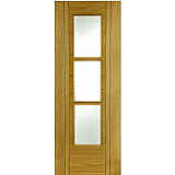 Internal Fire Door Oak Capri 3 Light Particle Board Core V-Groove Prefinished