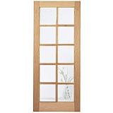 Internal Door Oak Elegance SA10 LIGHT Clear Glazed Unfinished