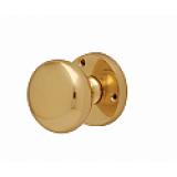 Internal Door Knob Mushroom Mortice Knob Polished Brass