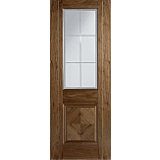Internal Door Valencia Walnut with Clear Cut Frosted glass L
